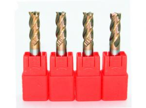 China Customized Lathe Drill Bits 4 Flutes HRC55 / 50 / 65 For Milling Cutter on sale