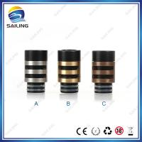 China Resin Metal E cigarette Drip tip Wide Bore Drip Tips Stainless Steel Brass on sale