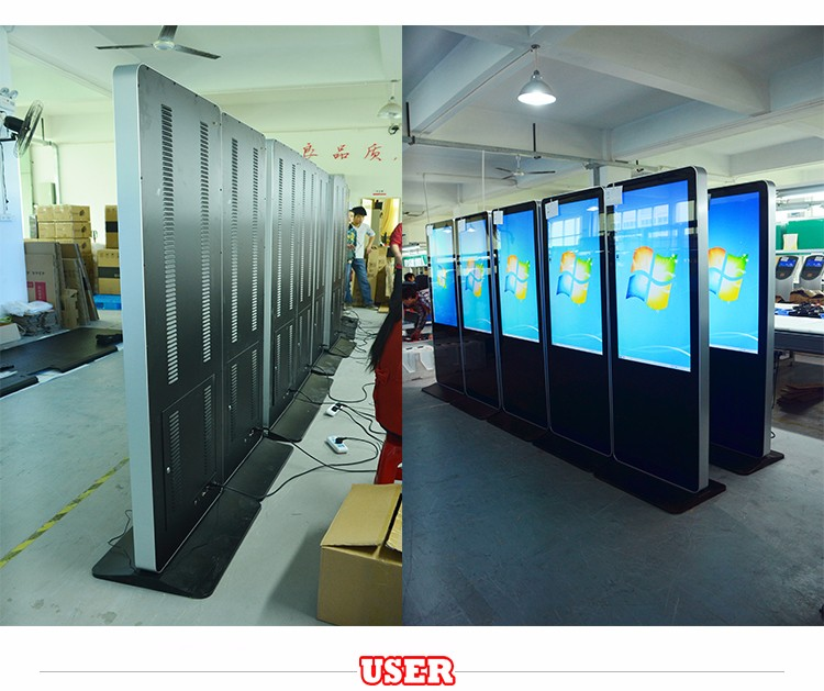 55 floor standing digital signage, totem, lcd advertising kiosk