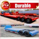 4Lines 8Axles Heavy Duty Equipment Transport 120Ton Low Bed Lowbed Truck Semi Trailer
