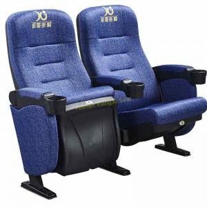 China Blue Frabic ABS Theatre Seating Chairs Home Furniture Plastic Shell Anti - Fading on sale