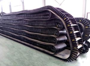 China Anti Slip Rubber EP800 4 Ply Corrugated Sidewall Belt , Mobile Conveyor System on sale