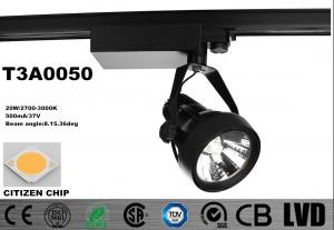 China Black 20W Tiltable Horizontally LED Track Lights Dimmable Aluminum Die - Cast on sale