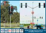 Q235 Conical / Round / Polygonal Double Arms Traffic Light Pole For Railway Crossing
