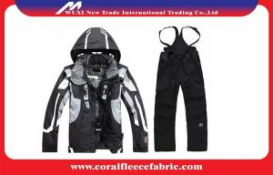 China Anti-UV Sportswear Mens Outdoor Jackets and Pants Winter Skiing / Snow Suits on sale