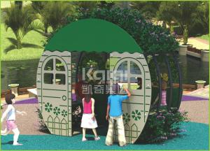 China Hot sell PE board made house play   out door playground for kids on sale