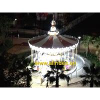 factory China amusement park Double Deck carousel horses Merry Go Round for sale