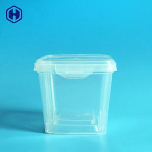 China Easy Lock Square Plastic Food Storage Containers Durable Reusable on sale
