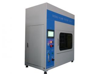 China PLC Control Audio Video Test Equipment / Needle - Flame Tester Simulation Technique Fire Hazard on sale