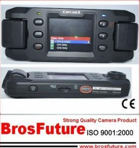 China GPS Car DVR Recorder / G-sensor SOS Car DVR with Dual Cameras 30fps on sale