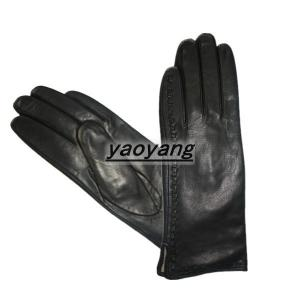 China 2015 new style and fasion good quality ladies goat leather gloves YYLL074 on sale