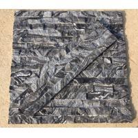 China Black wooden marble culture stone,black forest marble stacked stone,black wood vein marble ledgestone,stone cladding on sale