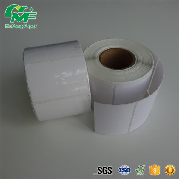 Eco Blank Sticky Paper Roll , 4x2 Thermal Label Sticker