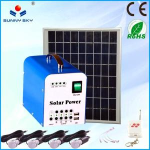 China small home solar panel kit solar power system portable solar lighting kit on sale