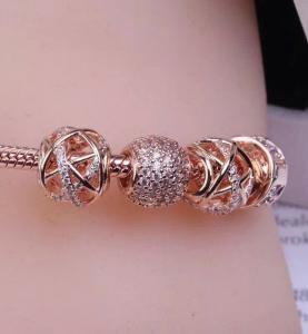 China ROSE GOLD SERIES IN 2018 1:1 sterling 925 silver jewlery high quality bracelet on sale