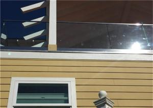 China Prima Building Frameless Glass Railing System 850mm-1067mm Post Height , U Channel Profile on sale