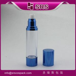 China A022 15ml 30ml 50ml blue aluminum airless bottle for cosmetic serum on sale