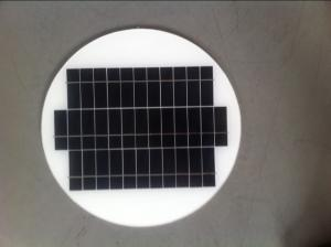 China round solar module 10W 20W and 5W for DC 12V solar light, OEM available/circle solar panel on sale