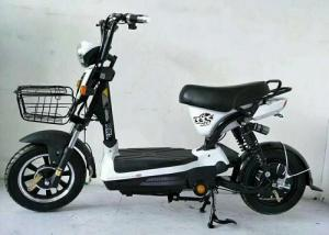 China Black Brushless Electric Scooter , Battery Powered Moped With Front Rear Drum on sale