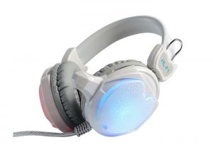 China White Computer Gaming Headphones Sound Isolation OEM / ODM Available on sale