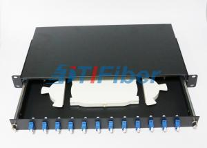 China 12 Duplex Port  Fiber Optic Terminal Box with 19 Inch Standard Structure on sale