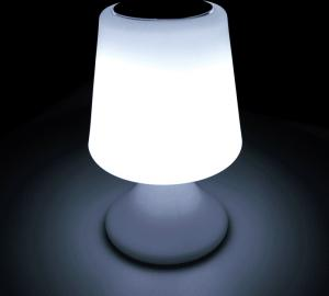 China Energy Saving Wireless Light Speaker / Light Up Bluetooth Speaker Table Lamp Shape on sale