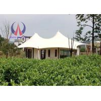 China Prefabricated Luxury Tent Hotel With Membrane Roof Simple Decoration on sale