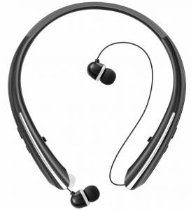China Bluetooth Retractable Headphones, Wireless Earbuds Neckband Headset Sports Noise Cancelling Stereo Earphones with Mic on sale