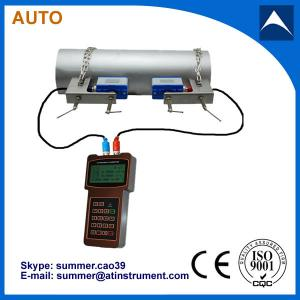China low cost clamp on type handheld ultrasonic flow meter manufacturer on sale