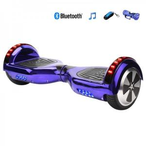 China Electrical Skateboard Hoverboard 6.5 inch Wheel with Led Bluetooth Speaker - Purple on sale