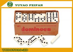 China Board Game Double Six Black Dominoes Set , Mexican Dominoes Game on sale