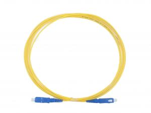 China FTTH Optical SC SC Fiber Patch Cord PVC / LSZH Material With Good Exchangeability on sale