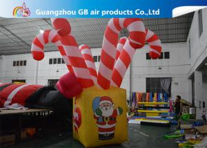 China Giant Colorful Inflatable Christmas Stick / Inflatable Candy Cane Stick / Inflatable Walking Stick on sale