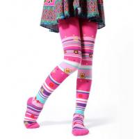 China Pink Children's Cotton Tights , Polyester Cotton Spandex Leggings on sale