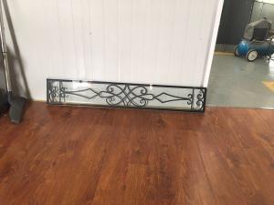 China 08*48 Wrought Iron And Glass Entry Doors Sandblasting Zinc Coating on sale