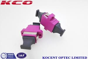 China MPO MTP Optical Fiber Adapter Violet Color Female - Female With Plastic Material on sale