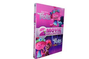 China Trolls / Trolls World Tour 2 Movie Collection DVD 2020 New Release Adventure Series Animation DVD For Kids Family on sale