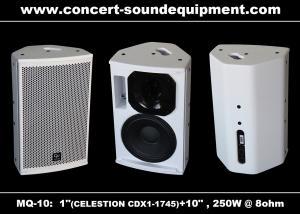 China Pro Sound DJ Equipment / 1+10 Full Range 250W White Plywood Speaker For Installation on sale