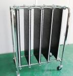 Stainless Steel ESD PCB Storage Trolley Carts Four Wheels Anti Static Workshop