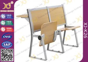 China Lecture Hall Seats Attached School Desks And Chair Wooden Folding Furniture on sale