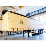 Convenient Load 3 Axle Gooseneck 90m3 Curtain Side Semi Trailer