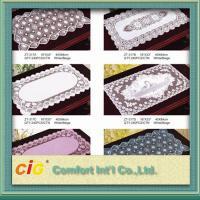 Waterproof Embossed Design Flora Pattern Plastic PVC Table Cloth