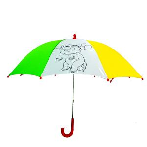 China Manual Open Kid ' S Diy Little Girl Umbrella With Animals Custom Printing on sale