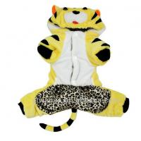Personalized Tiger Costume For Dogs Pomeranians , Chihuahua Cotton Clothes Customized