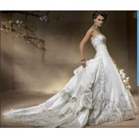 New White/Ivory Separable Train Bridal Wedding Dresses Gown Custom Size