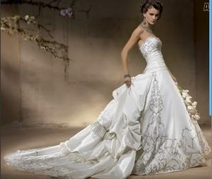 China New White/Ivory Separable Train Bridal Wedding Dresses Gown Custom Size on sale