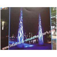 China 5m Colored Inflatable Lighting Decoration , LED Color Changing Lights on sale