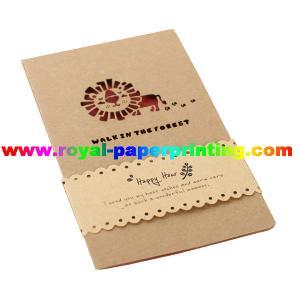 China modifique las tarjetas de papel impresas que cortan con tintas y coloridas/las tarjetas de felicitación para requisitos particulares on sale
