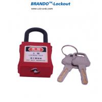 38mm nylon shackle industry high safety padlock colorful ABS padlocks