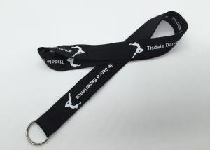 China popular  Personalized  logo silk screen neck lanyard with split ring on sale